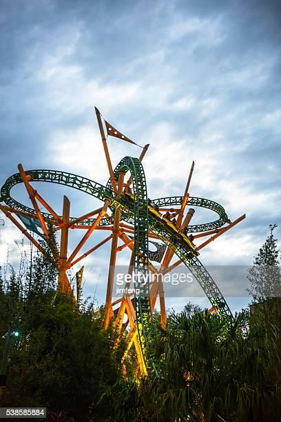 roller coaster - orlando florida stock photos and pictures