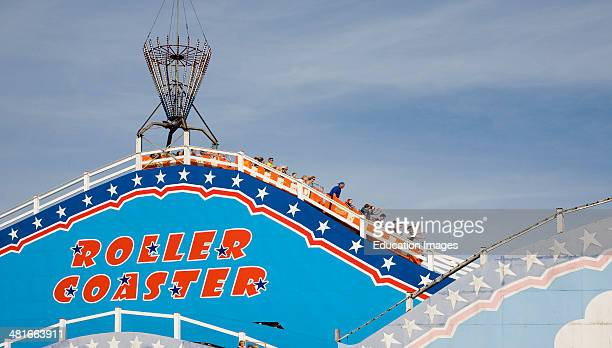 Roller Coaster ride at Pleasure Beach funfair Great Yarmouth Norfolk England