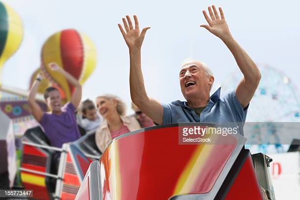 roller coaster ride - amusement park ride stock pictures, royalty-free photos & images