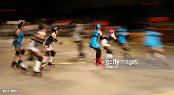 Roller Derby Pack in Bewegung