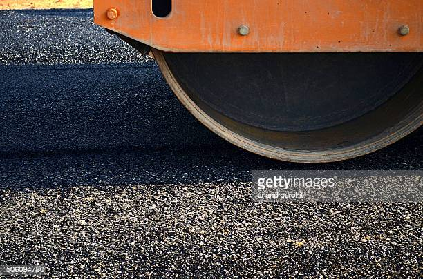 Roller Paving New Asphalt Road, Rajasthan, India