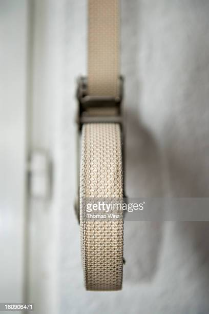 roller shutter winder strap - industrial door stock pictures, royalty-free photos & images