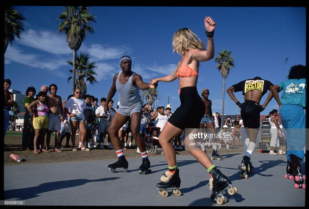 Roller Skaters In Venice Beach News Photo
