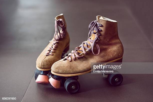 roller skates - roller skating stock photos and pictures