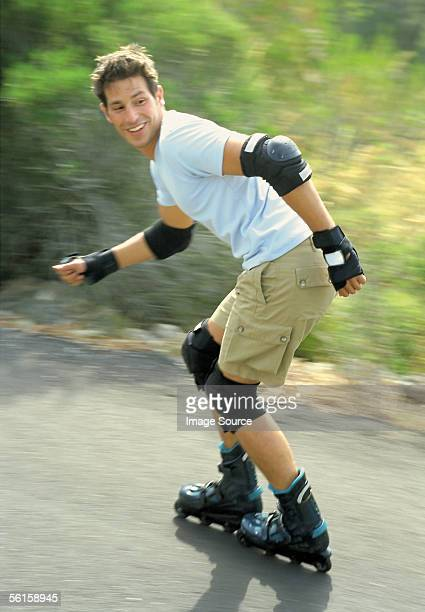 roller-blader - inline skating stock pictures, royalty-free photos & images