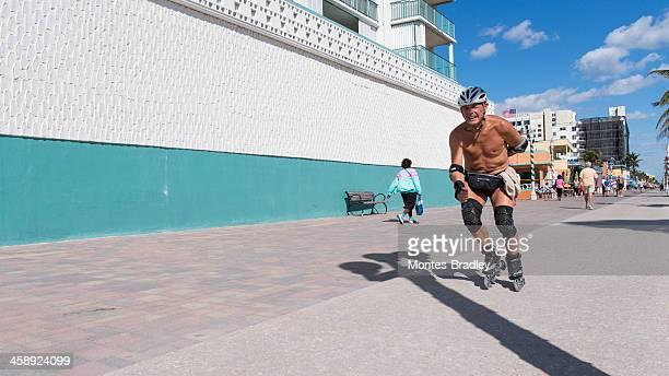 Rollerblading away