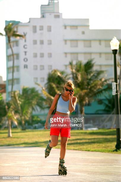 Rollerblading on Ocean Drive South Miami