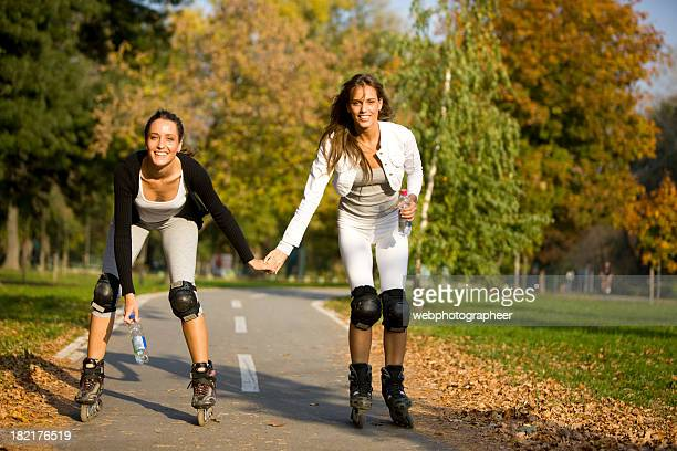 rollerblading - inline skate stock photos and pictures