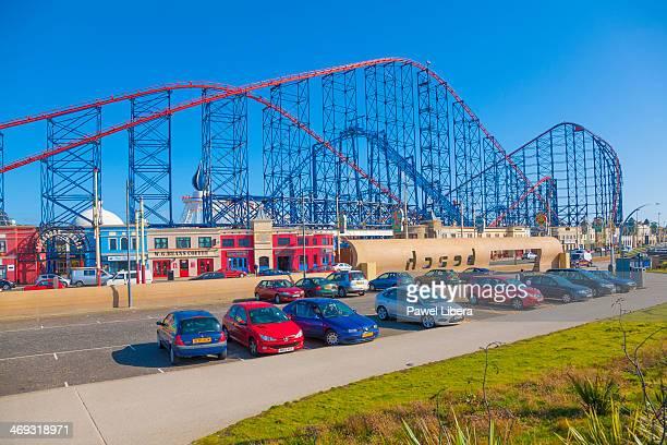 Rollercoaster at Blackpool's Pleasure Beach Amusement Park