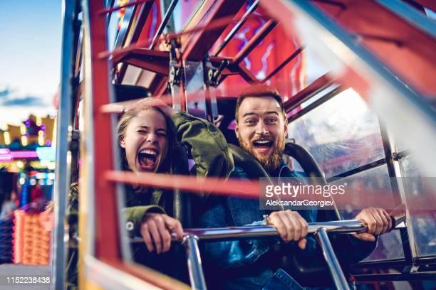 rollercoaster fun times !!! - amusement park stock pictures, royalty-free photos & images