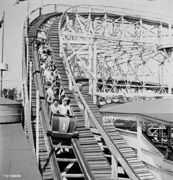 A rollercoaster ride at the Palisades Amusement Park in New Jersey 1949
