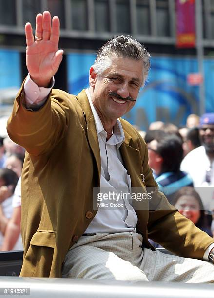 Rollie Fingers during the MLB AllStar Game Red Carpet Parade on July 15 2008 in New York City