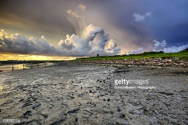 rolling clouds - mud stock pictures, royalty-free photos & images