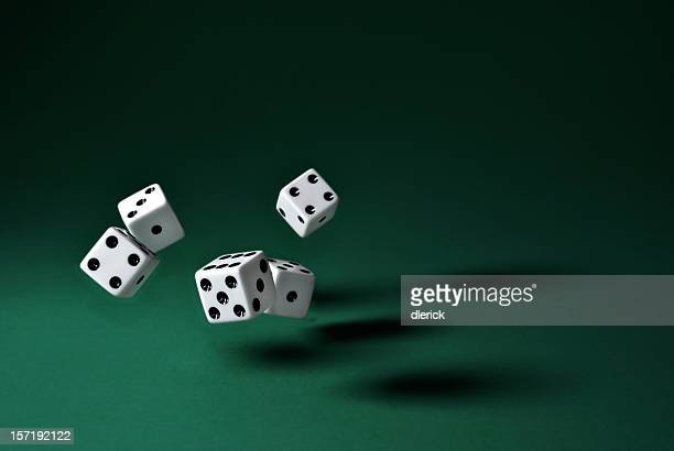 rolling dice(clipping path)