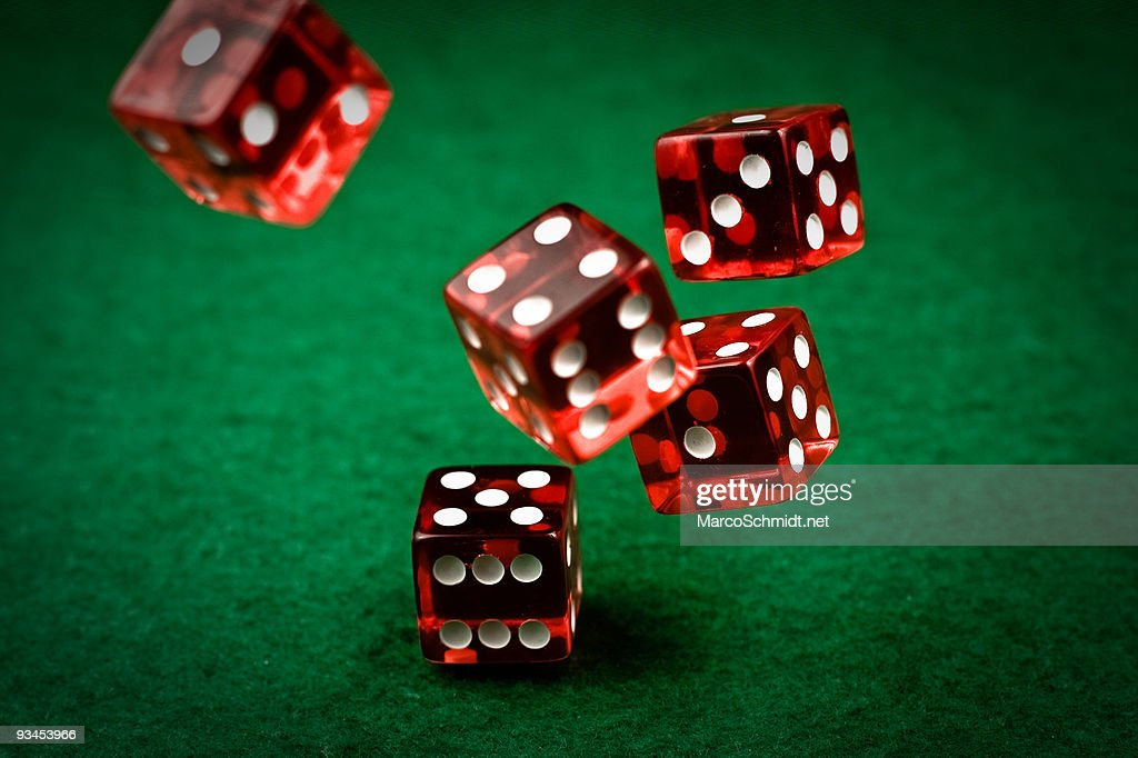 Rolling dices : Stock Photo