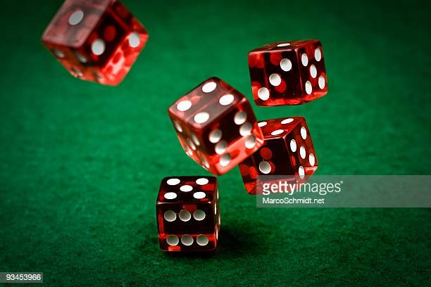 rolling dices - casino stock pictures, royalty-free photos & images
