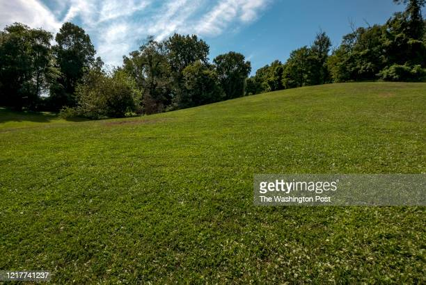 A rolling expanse of lawn at Battery Kemble Park in the Palisades neighborhood in Washington DC on August 2 2019