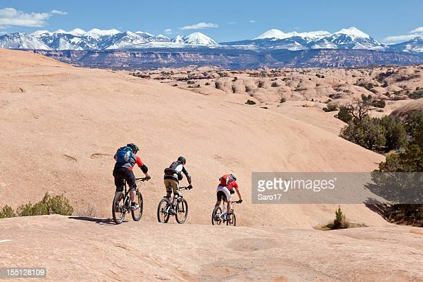 rolling into the well, utah - moab utah stock photos and pictures