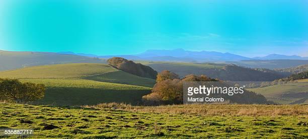 Rolling landscape in Auvergne region
