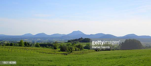Rolling landscape in the Auvergne area