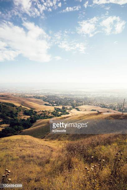 rolling landscape, mission peak regional preserve, fremont, california, united states - fremont california stock pictures, royalty-free photos & images