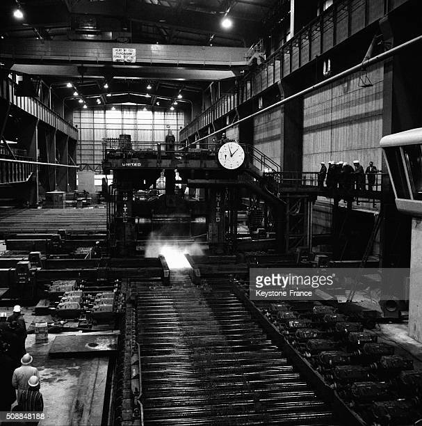 Rolling Mill At The Most Important In Europe Iron And Steel Complex in Dunkerque France on October 31 1962