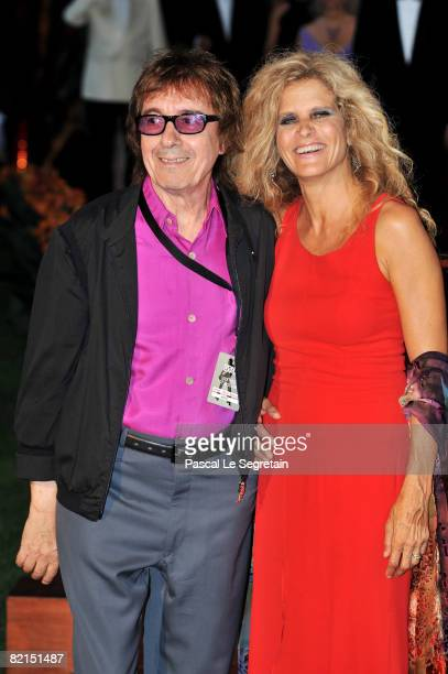 Rolling Stone bass player Bill Wyman and wife Suzanne attend the 60th Monte Carlo Red Cross Ball on August 1, 2008 in Monte Carlo, Monaco.