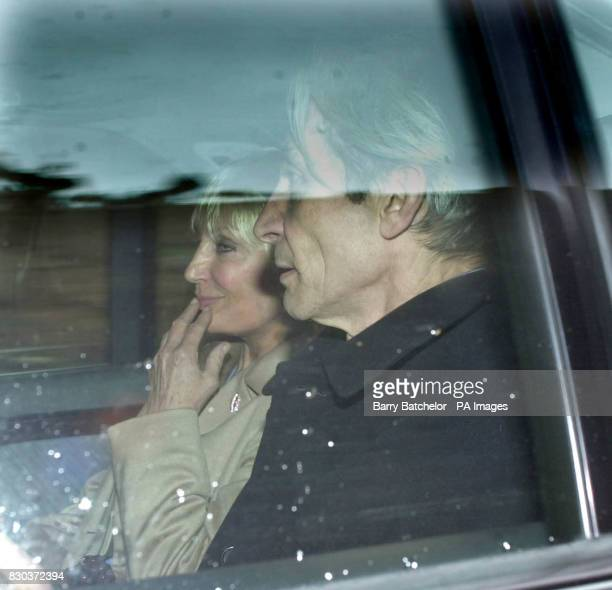 Rolling Stone drummer Charlie Watts and his wife Shirley are driven from Exeter Crown Court after Mrs Watts testified against Paul Atkinson who is...