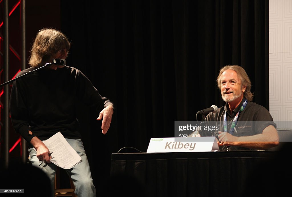 Rolling Stone editor David Fricke (L) and musician Steve Kilbey speak onstage at 'SXSW Interview: The Church' during the 2015 SXSW Music, Film + Interactive Festival at Austin Convention Center on March 20, 2015 in Austin, Texas.