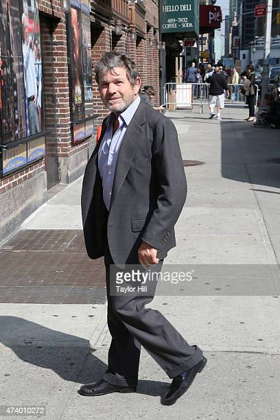 """Rolling Stone founder Jann Wenner arrives at """"Late Show with David Letterman"""" at Ed Sullivan Theater on May 19, 2015 in New York City."""