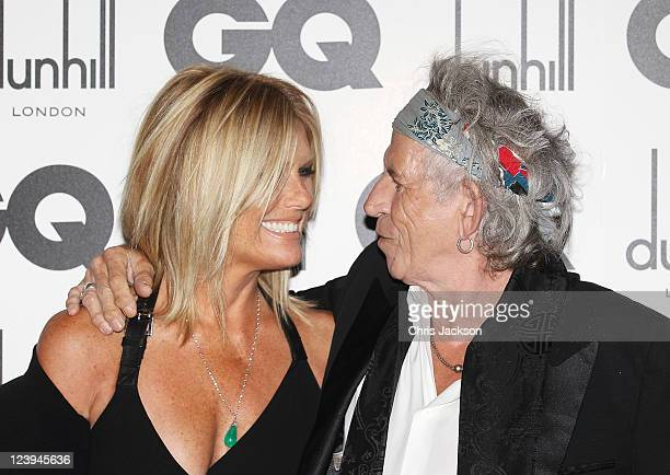 Rolling Stone Keith Richards and wife Patti Hansen attend the GQ Men Of The Year Awards at The Royal Opera House on September 6 2011 in London England