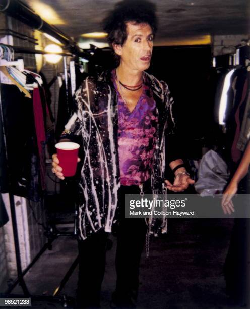 Rolling Stone Keith Richards checks with designer Suzi Stokes that she is happy with his outfit before a televised peformance at the Paradisio Club...