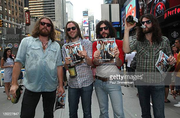 Rolling Stone Magazine's winners Ewan Currie Sam Corbett Leot Hanson and Ryan Gullen of The Sheepdogs attend Rolling Stone's Do You Wanna be a Rock...