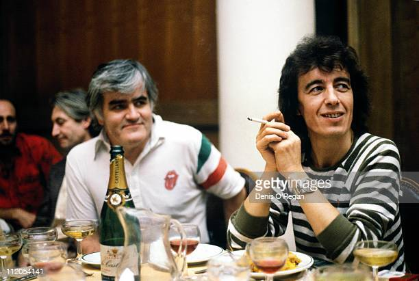 Rolling Stones bassist Bill Wyman with road manager Ian Stewart in Vienna 1982