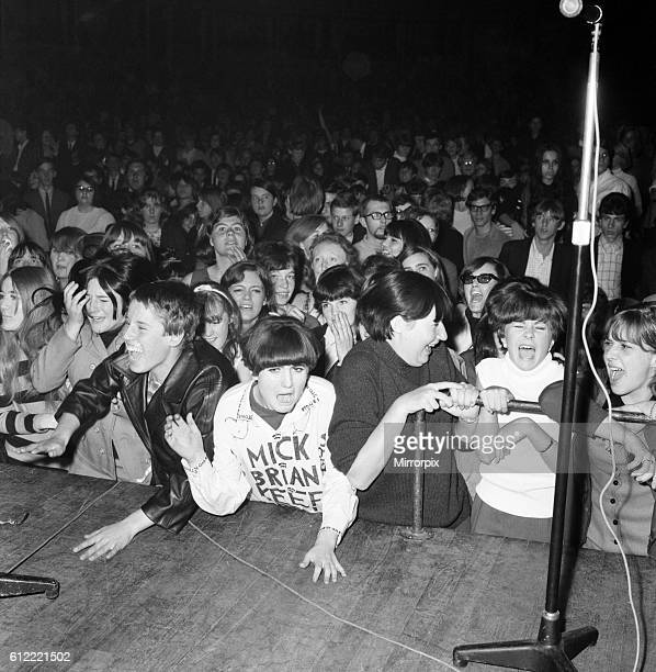 Rolling Stones fans at Royal Albert Hall London 23 September 1966 during their tour with Ike Tina Turner