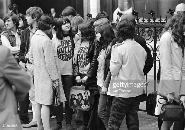 Rolling Stones fans outside a London Appeals Court to support Mick Jagger and Keith Richards who are appealing against drug related convictions, 1st...