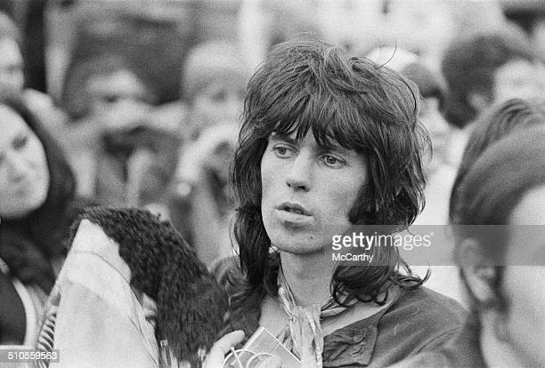 Rolling Stones guitarist Keith Richards amongst the crowd during the Isle of Wight Festival 31st August 1969