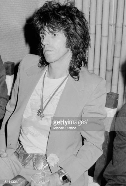 Rolling Stones guitarist Keith Richards at a press conference at the Sportpaleis AHOY, Rotterdam, Netherlands, 13th-14th October 1973.The group...