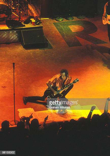 Rolling Stones guitarist Keith Richards on stage at the Shepherd's Bush Empire London 8th June 1999