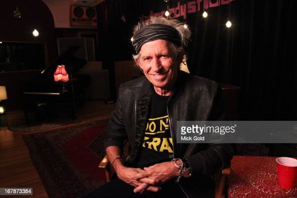 Rolling Stones guitarist Keith Richards poses for a portrait at Electric Ladyland Studio, New York on 10th April 2013. PHoto by Mick Gold/Redferns)