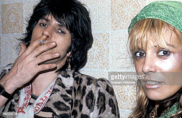 Rolling Stones guitarist Keith Richards with Italianborn German actress Anita Pallenberg at the Kilburn State Gaumont Theatre London for one of the...