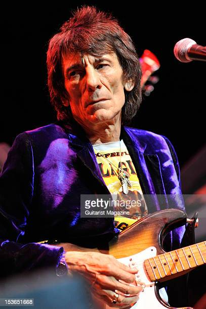 Rolling Stones guitarist Ronnie Wood performing with American blues guitarist BB King Live on stage at the Royal Albert Hall June 28 2011