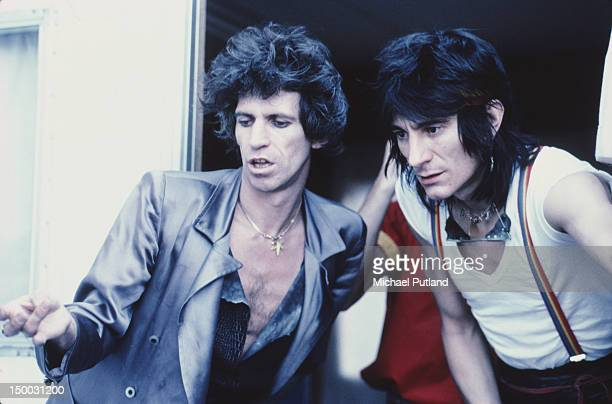 Rolling Stones guitarists Keith Richards and Ronnie Wood November 1981