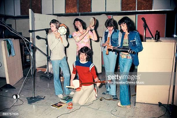 Rolling Stones in Kingston Jamaica with classic instruments of Japan n Jamaica December 1980