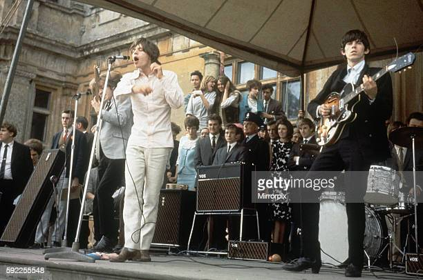 Rolling Stones on stage at Longleat House in Wiltshire 2nd August 1964