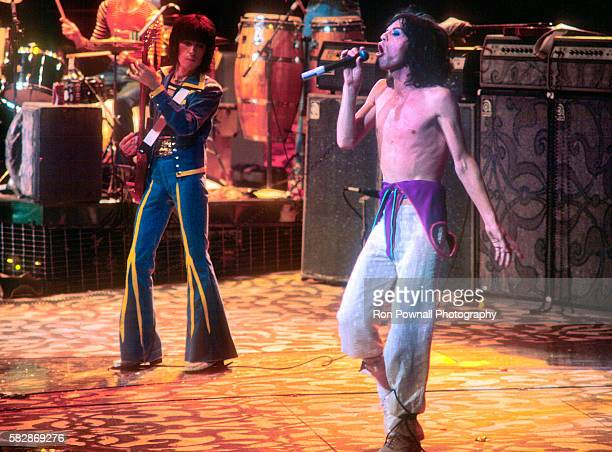 Rolling Stones performing at Madison Square Garden NYC June 24 1975 Charlie Watts Bill Wyman Mick Jagger