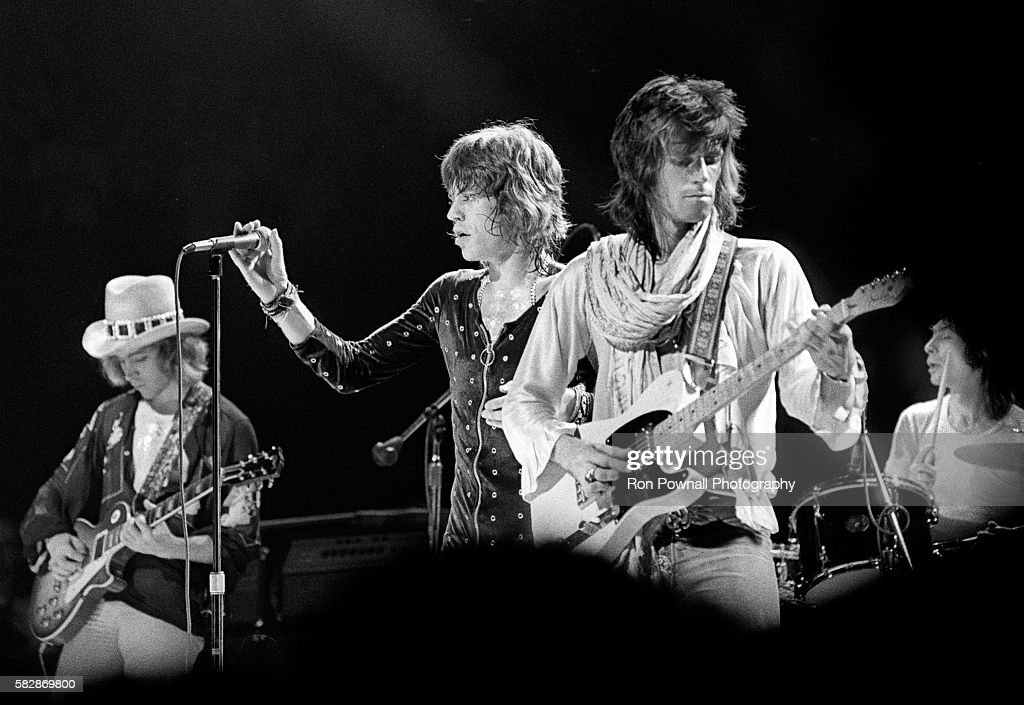 Rolling Stones performing at the Boston Garden, July 18, 1972