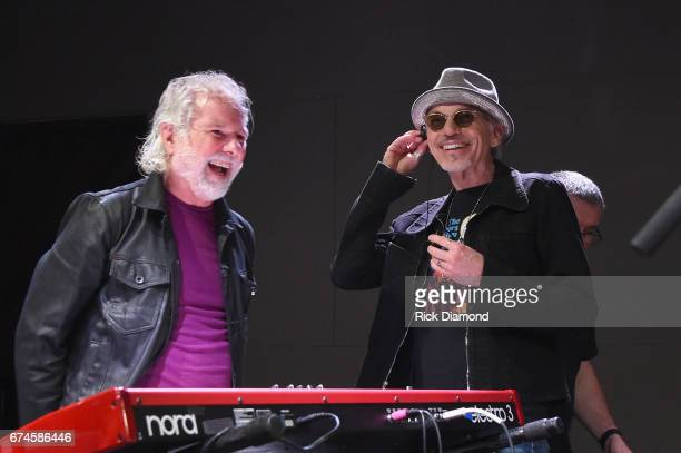 Rolling Stones pianist and musical director Chuck Leavell and Academy Awardwinning actor Billy Bob Thornton rehearse onstage before the White House...