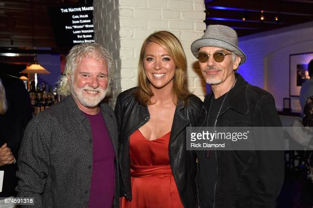 Rolling Stones pianist and musical director Chuck Leavell CNN Newsroom Anchor Brooke Baldwin and Academy Awardwinning actor Billy Bob Thornton attend...