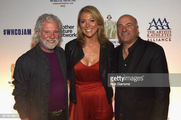 Rolling Stones pianist and musical director Chuck Leavell CNN Newsroom Anchor Brooke Baldwin and Businessman Kevin O'Leary attend the White House...